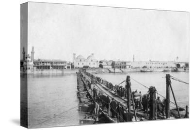 Kotah Boat Bridge, Baghdad, Iraq, 1917-1919--Stretched Canvas Print
