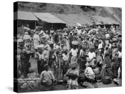 Market Scene, Sierra Leone, 20th Century--Stretched Canvas Print