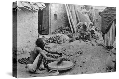 A Potter at Work, India, 20th Century--Stretched Canvas Print