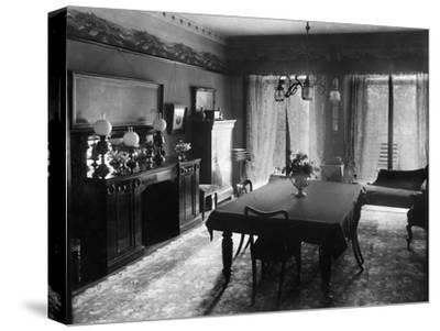 Edwardian Dining Room, 1909--Stretched Canvas Print
