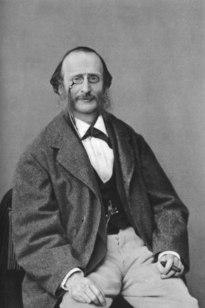 Jacques Offenbach (1819-188), German-Born French Composer, Cellist and Impresario of the Romantic-Felix Nadar-Stretched Canvas Print