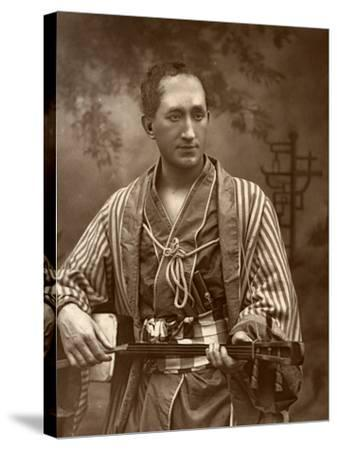 Durward Lely, Scottish Opera Singer, in Gilbert and Sullivan's the Mikado, 1887-Ernest Barraud-Stretched Canvas Print