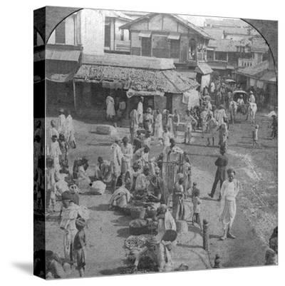 A Market in Ahmedabad, India, 1902-BL Singley-Stretched Canvas Print