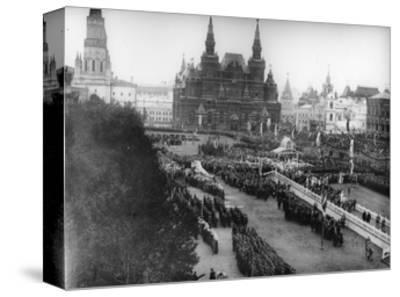 Service in Red Square to Celebrate the Centenary of the War in 1812, Moscow, Russia, 1912-K von Hahn-Stretched Canvas Print
