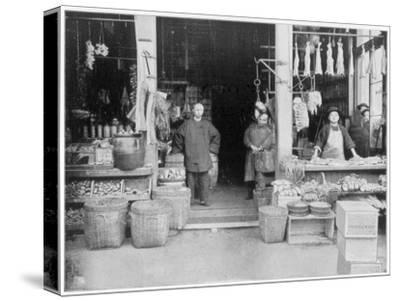 Chinatown, San Francisco, Late 19th Century-John L Stoddard-Stretched Canvas Print