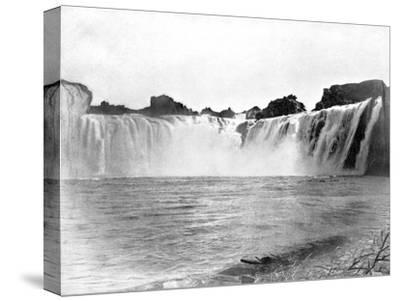Shoshone Falls, Idaho, USA, 1893-John L Stoddard-Stretched Canvas Print