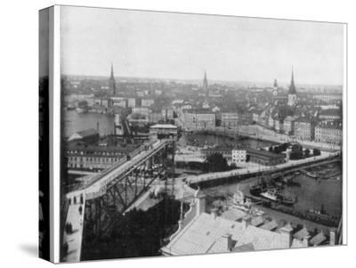 Panorama of Stockholm, Sweden, Late 19th Century-John L Stoddard-Stretched Canvas Print