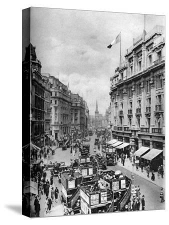 Regent Street, London, 1926-1927-McLeish-Stretched Canvas Print