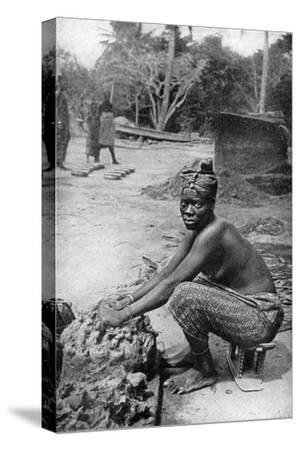 A Gold Coast Potter and Her Clay, Ghana, West Africa, 1922-PA McCann-Stretched Canvas Print