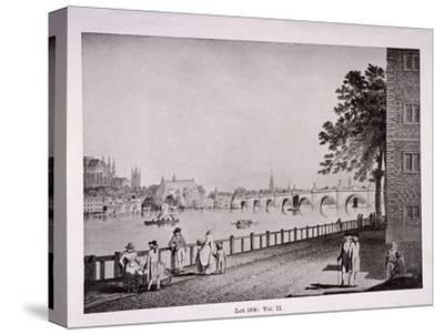 Westminster Bridge, London, C1925-Thomas Malton II-Stretched Canvas Print