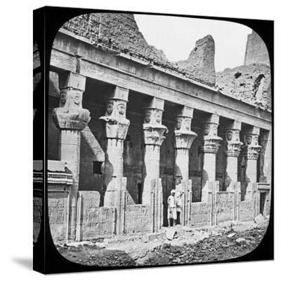 Colonnade of the Temple of Isis, Philae, Egypt, C1890--Stretched Canvas Print