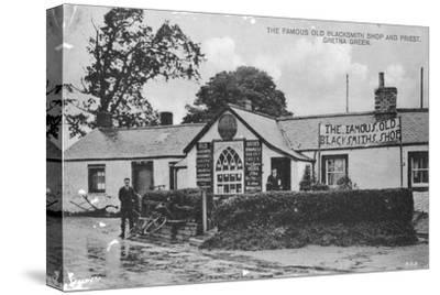 The Famous Old Blacksmith's Shop, Gretna Green, Dumfriesshire, Scotland, 20th Century--Stretched Canvas Print