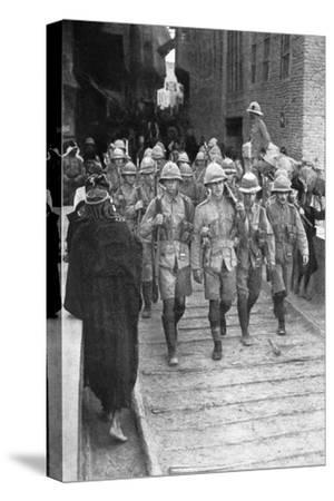 British Troops on the Way to Baghdad, First World War, 1917--Stretched Canvas Print