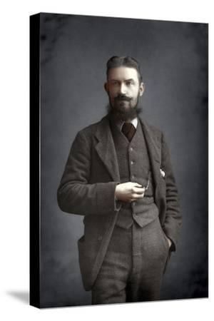 George Bernard Shaw, Irish Dramatist, Critic and Fabian, 1893-W&d Downey-Stretched Canvas Print