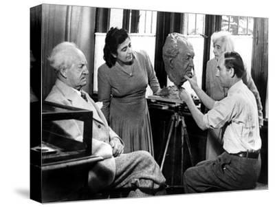 Arno Breker, German Sculptor, Working on a Bust of Gerhart Hauptmann, October 1942--Stretched Canvas Print