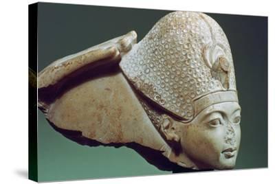 Tutankhamun Wearing the Blue Crown, 14th Century Bc--Stretched Canvas Print