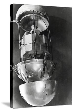 Sputnik 1, Russian Satellite, 1957--Stretched Canvas Print