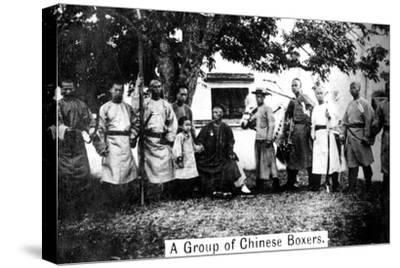 A Group of Chinese Boxers, 20th Century--Stretched Canvas Print