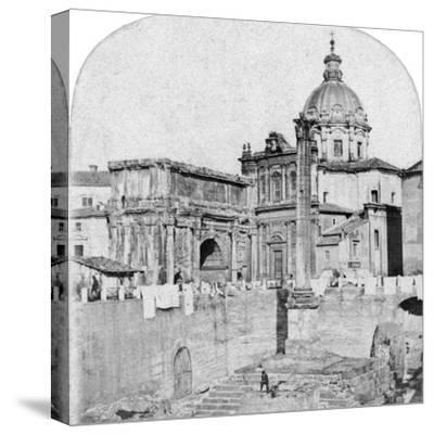 The Roman Forum, Rome, Italy, Early 20th Century--Stretched Canvas Print