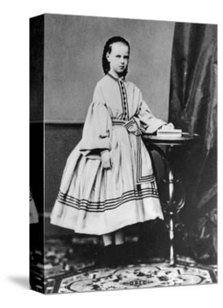 Grand Duchess Maria Alexandrovna of Russia, C1861-C1864--Stretched Canvas Print