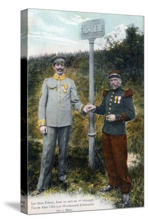 Two Brothers at the French and German Frontier, 20th Century--Stretched Canvas Print