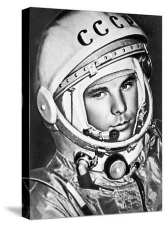 Yuri Gagarin, Russian Cosmonaut, 1961--Stretched Canvas Print