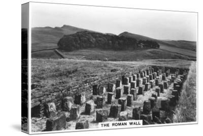 The Roman Wall, Housesteads, Northumberland, 1937--Stretched Canvas Print