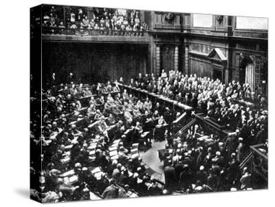 A Typical Sitting of the Reichstag, Parliament of the German Republic, 1926--Stretched Canvas Print