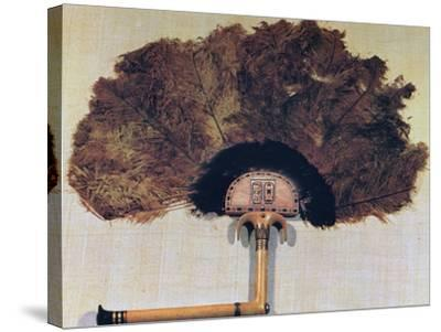 Ivory Fan Trimmed with Ostrich Feathers, from the Tomb of Tutankhamun, 14th Century Bc--Stretched Canvas Print