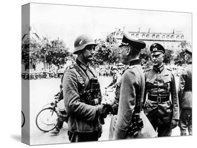 German Victory Parade after the Capture of Paris, June 1940--Stretched Canvas Print