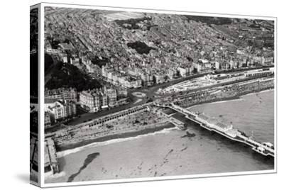Aerial View of Brighton, Sussex, from a Zeppelin, 1931--Stretched Canvas Print