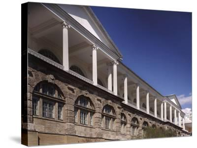 Cameron Gallery at the Catherine Palace in Tsarskoye Selo. Colonnade of the Top-Floor, 1783-1785-Charles Cameron-Stretched Canvas Print