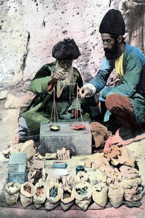 Spice Seller, Royal Palace, Tehran, C1890--Stretched Canvas Print