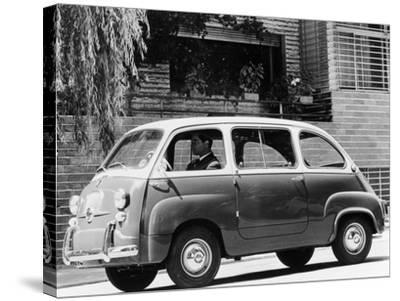 1963 Fiat 600 Multipla, (C1963)--Stretched Canvas Print