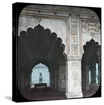 Interior of the Diwan-I-Khas, Red Fort, Delhi, India, Late 19th or Early 20th Century--Stretched Canvas Print