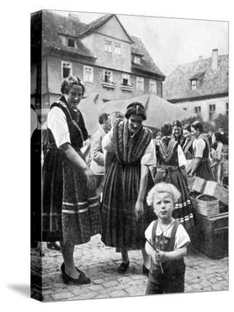 Traditional Costume, South Germany, 1936--Stretched Canvas Print