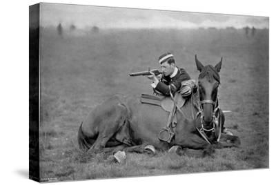 A Dismounted Lancer at a Skirmishing Display, 1896-Gregory & Co-Stretched Canvas Print