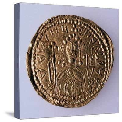 Coin (Zlatni) of Grand Duke Vladimir Svyatoslavich (Averse: Portrait of the Rule), 980-1015--Stretched Canvas Print