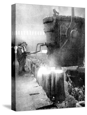 Bessemer Process for Manufacturing Steel, 1936--Stretched Canvas Print