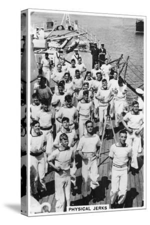 Physical Jerks, Exercise on Board HMS Devonshire, 1937--Stretched Canvas Print