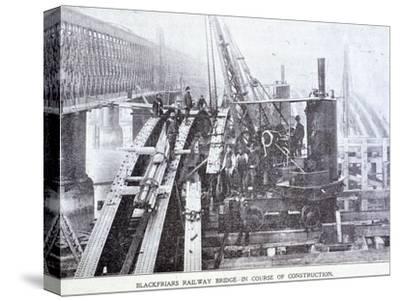 Blackfriars Bridge, London, C1864--Stretched Canvas Print