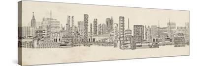 Neutral City Sounds-Sharon Chandler-Stretched Canvas Print