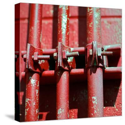 Pipes Square II-Gail Peck-Stretched Canvas Print
