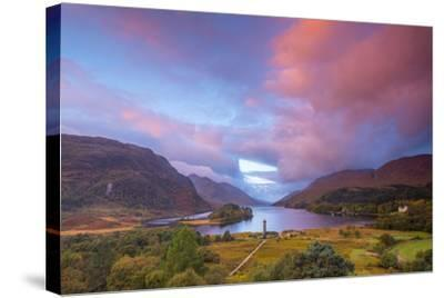 Glenfinnan Monument to the 1745 Landing of Bonnie Prince Charlie at Start of the Jacobite Rising-Alan Copson-Stretched Canvas Print