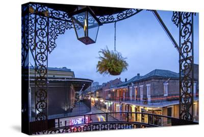 Louisiana, New Orleans, French Quarter, Bourbon Street-John Coletti-Stretched Canvas Print