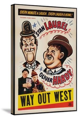 Way Out West, 1937--Stretched Canvas Print