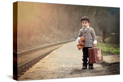 The Little Traveler-Tatyana Tomsickova-Stretched Canvas Print