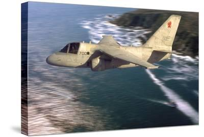 S-3 Viking Flying over San Diego, California-Stocktrek Images-Stretched Canvas Print