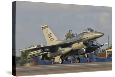 U.S. Air Force F-16 Fighting Falcon Taking Off-Stocktrek Images-Stretched Canvas Print