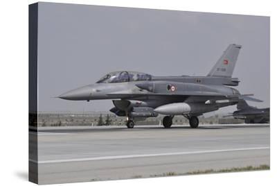 A Turkish Air Force F-16C Block 52+ at Konya Air Base, Turkey-Stocktrek Images-Stretched Canvas Print